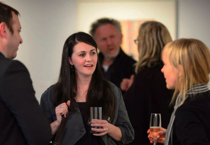 People having a conversation during an event at UTS Gallery
